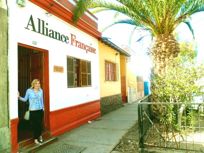 Maria, professeur de FLE au Chili à l'Alliance Française