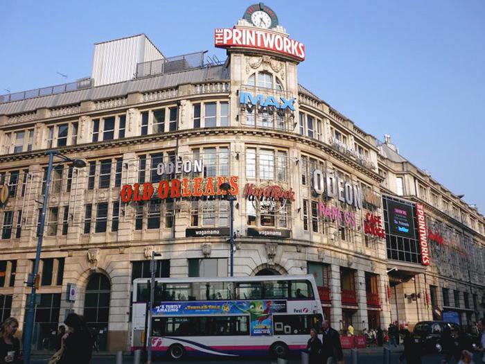 La ville de Manchester, au Royaume-Uni