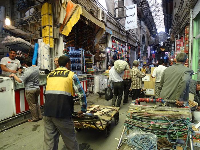 Le bazar de Téhéran