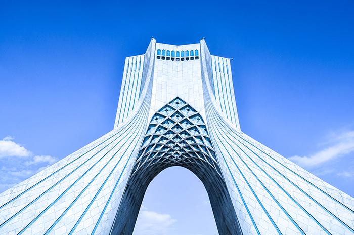 La tour Azadi, Téhéran.