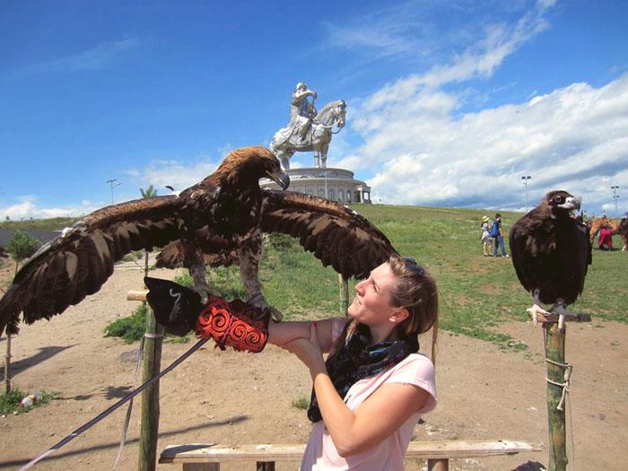 Charlène en Mongolie