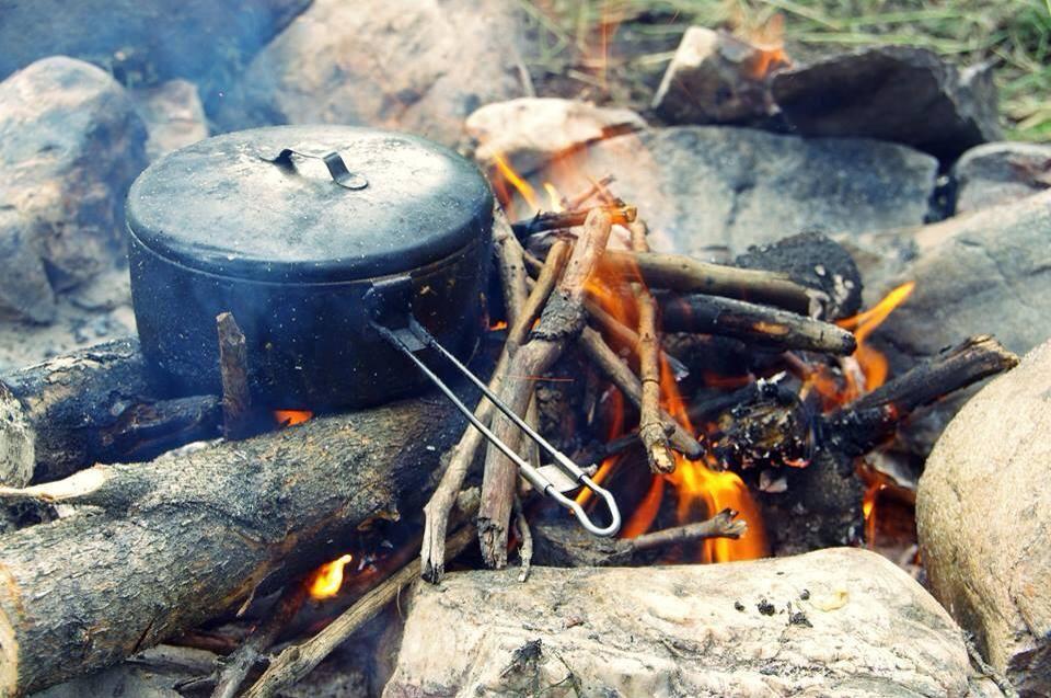 La cuisson des repas dans la nature