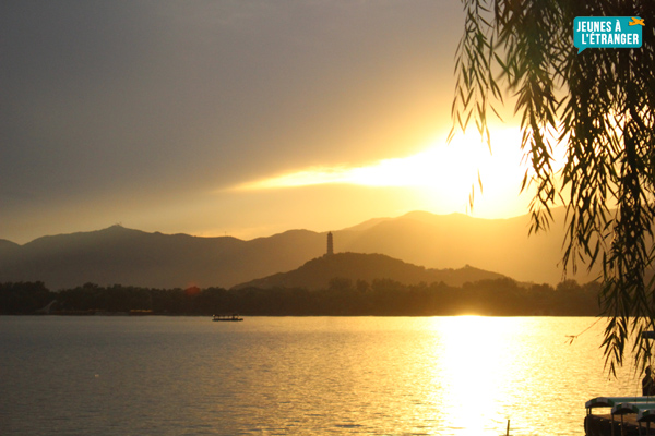 Coucher de soleil en Chine