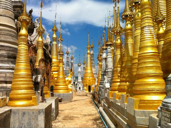 Pagode Indein birmanie