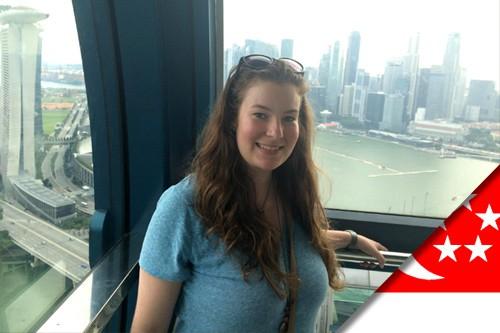 Julie et son stage à Singapour